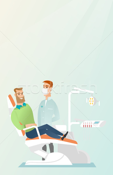 Patient and doctor in the dentist office. Stock photo © RAStudio