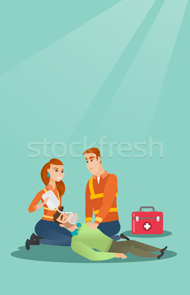 Emergency doing cardiopulmonary resuscitation Stock photo © RAStudio
