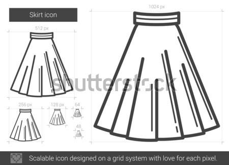 Stock photo: Skirt line icon.