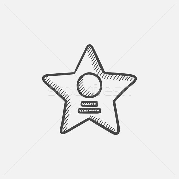 Cinema star sketch icon. Stock photo © RAStudio