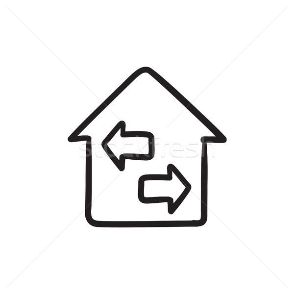 собственности эскиз икона вектора изолированный рисованной Сток-фото © RAStudio