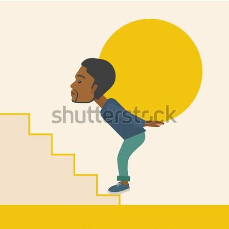 Kobieta konkretnych piłka w górę Zdjęcia stock © RAStudio