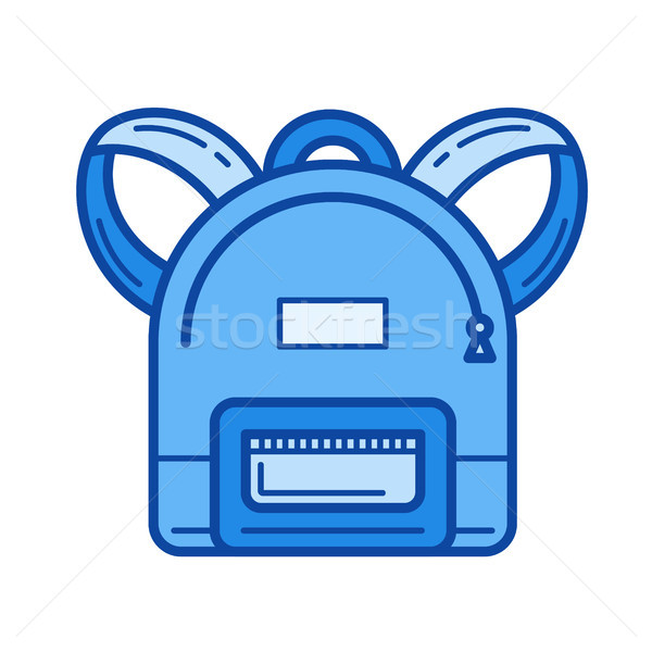 School backpack line icon. Stock photo © RAStudio