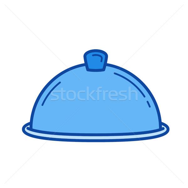 Serving tray line icon. Stock photo © RAStudio