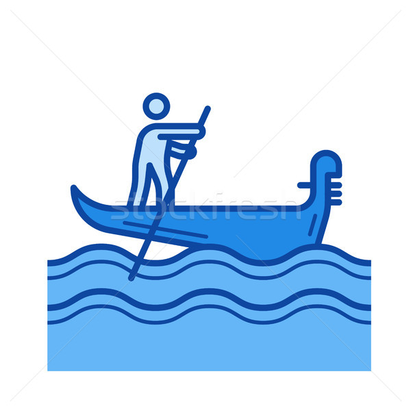 Venice gondola line icon. Stock photo © RAStudio