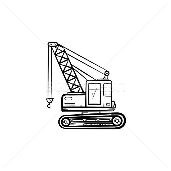 Lifting crane hand drawn sketch icon. Stock photo © RAStudio