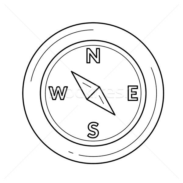 Brújula línea icono orientación vector aislado Foto stock © RAStudio