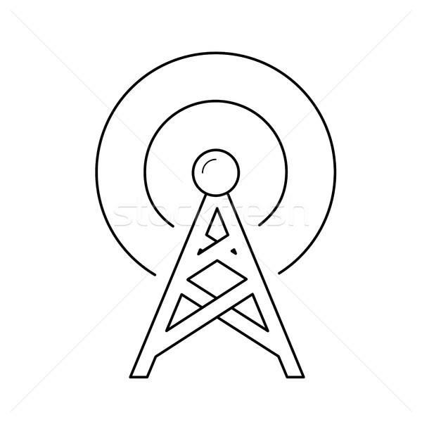 Radio antenna line icon. Stock photo © RAStudio