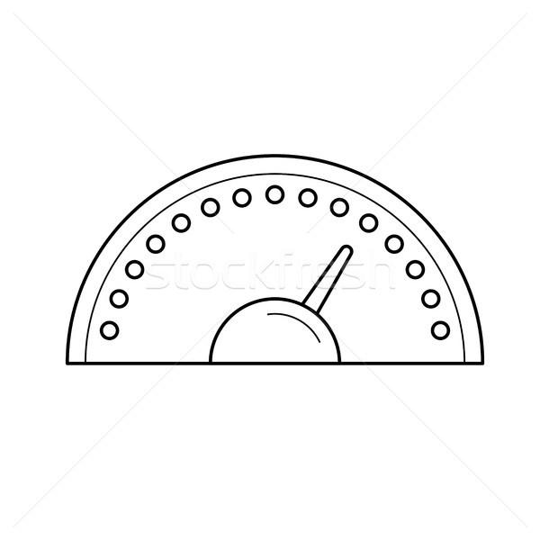 Sebességmérő vonal ikon vektor izolált fehér Stock fotó © RAStudio