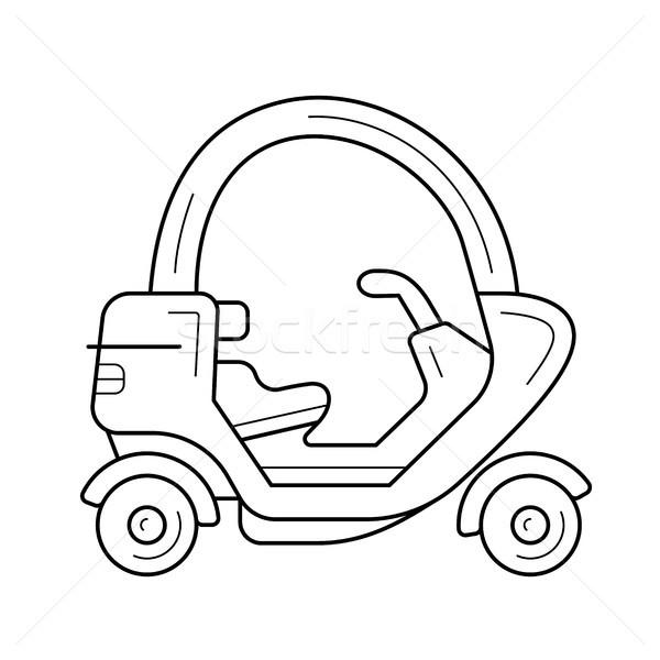 Tuk tuk line icon. Stock photo © RAStudio