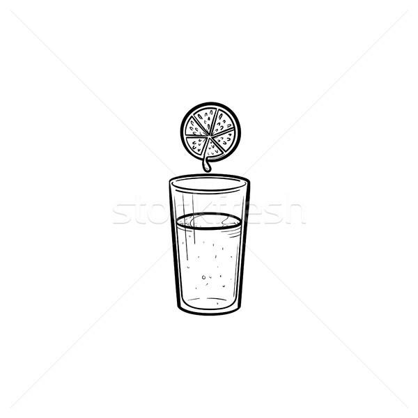 Glass of juice hand drawn sketch icon. Stock photo © RAStudio