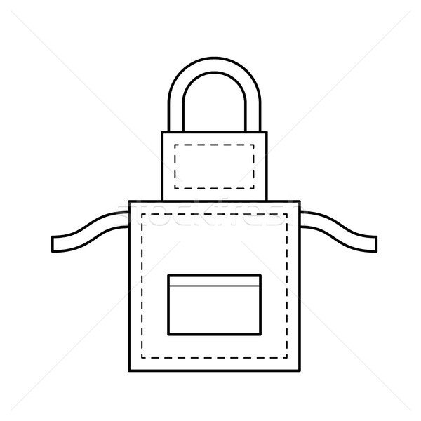 Apron vector line icon. Stock photo © RAStudio