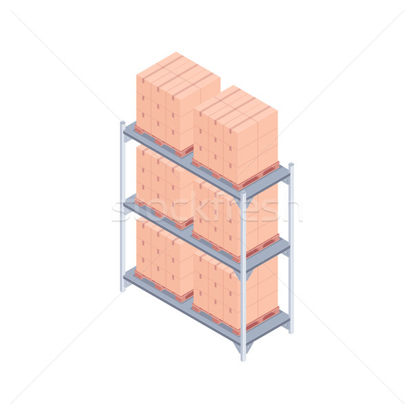 Pallet rack isometric vector illustration Stock photo © RAStudio