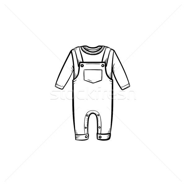 Baby shirt and pants hand drawn outline doodle icon. Stock photo © RAStudio