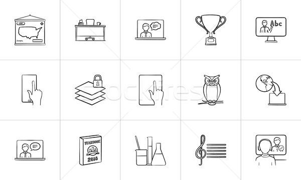 Onderwijs schets schets doodle Stockfoto © RAStudio