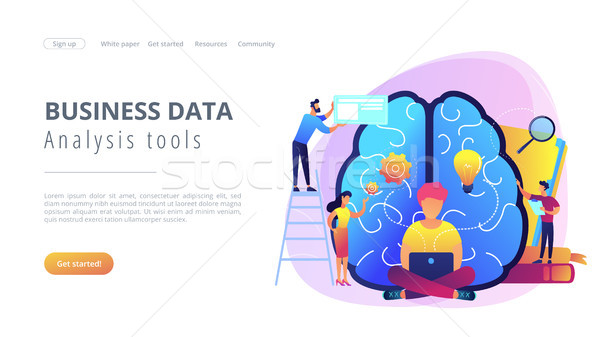 Business intelligence concept vector landing page. Stock photo © RAStudio