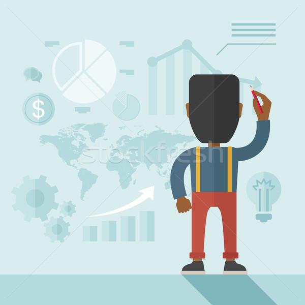 金融 役員 プレゼンテーション アフリカ系アメリカ人 向い 後方 ストックフォト © RAStudio