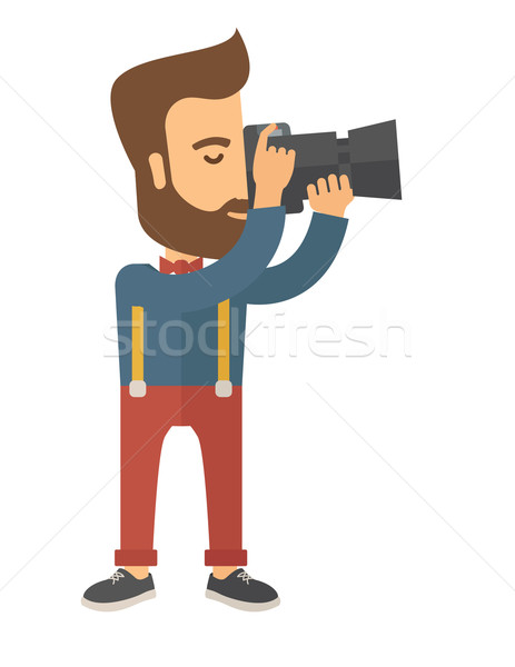 Photographer taking a picture. Stock photo © RAStudio