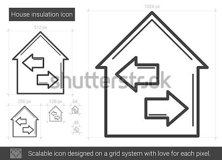 Tulajdon ikon rajzolt kréta kézzel rajzolt iskolatábla Stock fotó © RAStudio