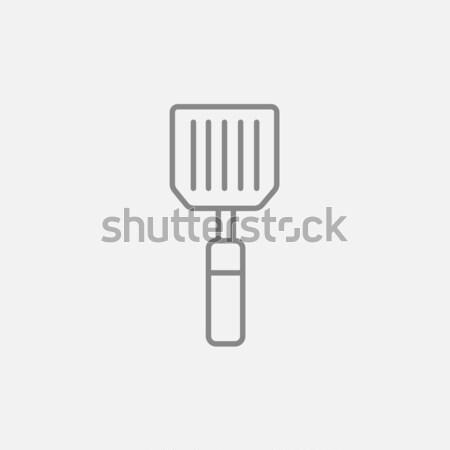 Keuken spatel lijn icon web mobiele Stockfoto © RAStudio