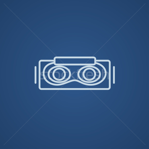 fd20302754 Virtual reality headset line icon. vector illustration © Andrei ...
