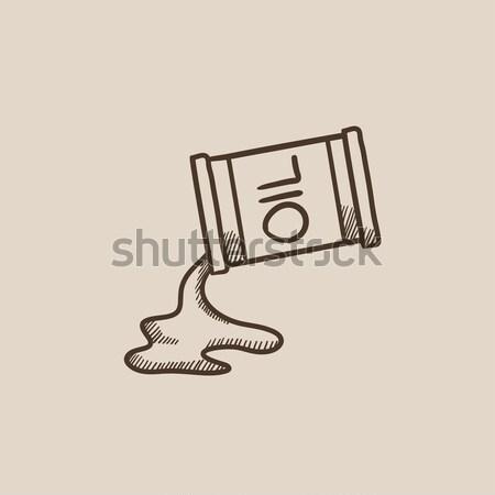 нефть баррель линия икона веб мобильных Сток-фото © RAStudio