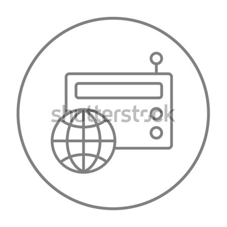 Retro radio line icon. Stock photo © RAStudio