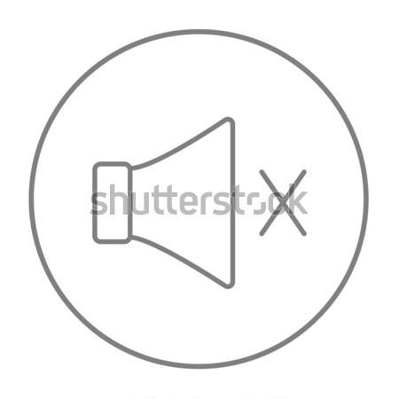 Dempen spreker lijn icon web mobiele Stockfoto © RAStudio