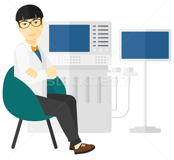 Male ultrasound specialist. Stock photo © RAStudio