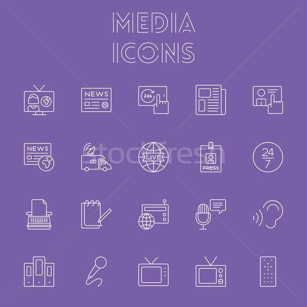 Media icon set. Stock photo © RAStudio