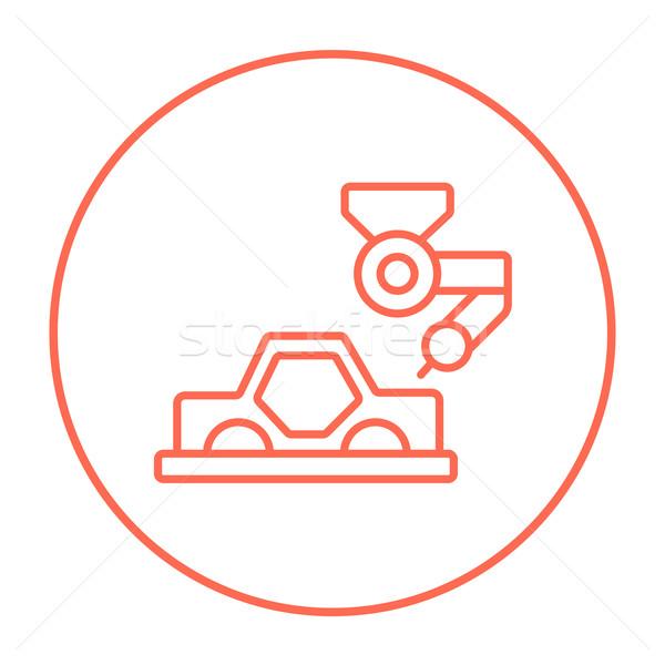Car production line icon. Stock photo © RAStudio