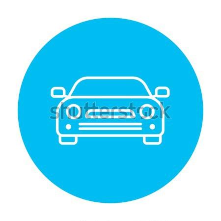 Samochodu line ikona internetowych komórkowych infografiki Zdjęcia stock © RAStudio