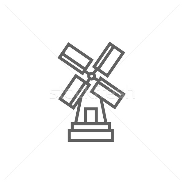 Moulin à vent ligne icône web mobiles infographie Photo stock © RAStudio