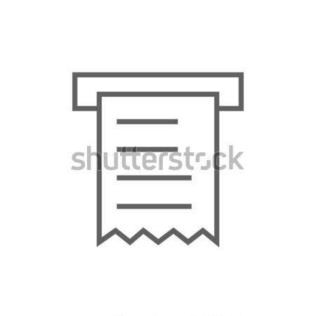 Makbuz hat ikon köşeler web hareketli Stok fotoğraf © RAStudio