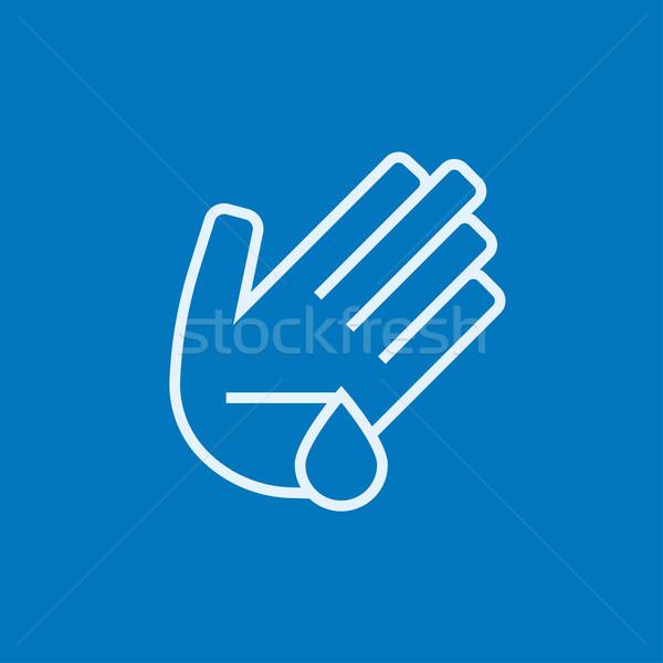 Wounded palm line icon. Stock photo © RAStudio