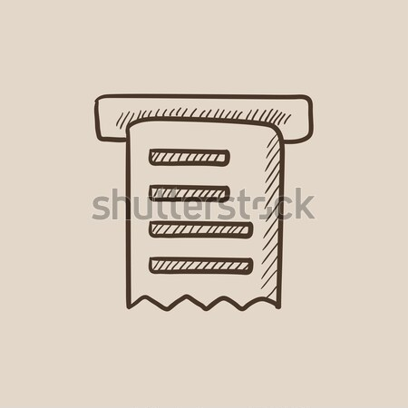 Receipt. Drawn in chalk icon. Stock photo © RAStudio