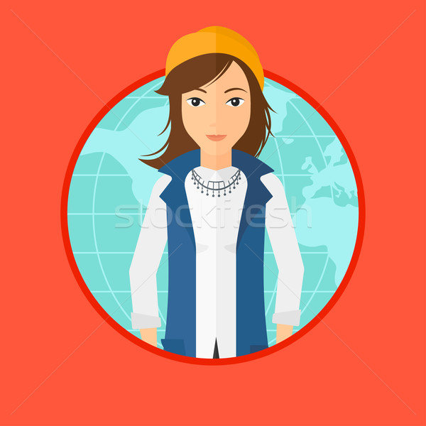 Business woman taking part in global business. Stock photo © RAStudio