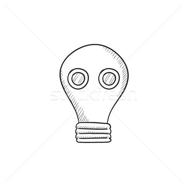 Gas mask sketch icon. Stock photo © RAStudio