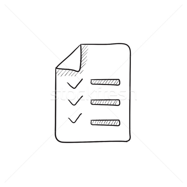 Shopping list sketch icon. Stock photo © RAStudio