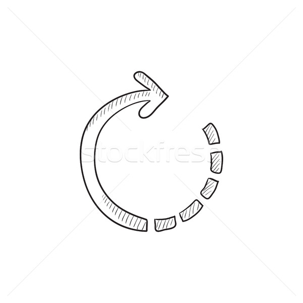 Refresh arrow sketch icon. Stock photo © RAStudio