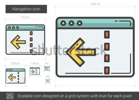 Navigation ligne icône vecteur isolé blanche Photo stock © RAStudio