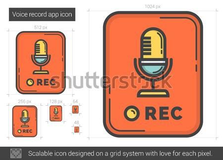 Voce record app line icona vettore Foto d'archivio © RAStudio