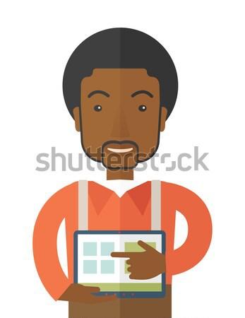 Bloeddruk maat man digitale jonge man Stockfoto © RAStudio