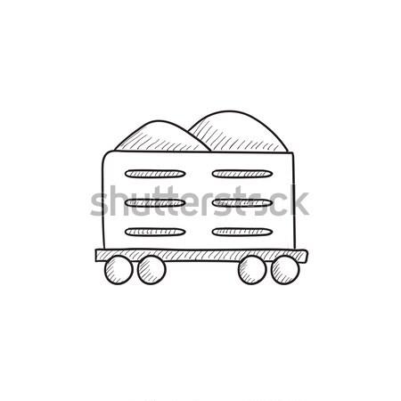 貨物 ワゴン スケッチ アイコン ベクトル 孤立した ストックフォト © RAStudio