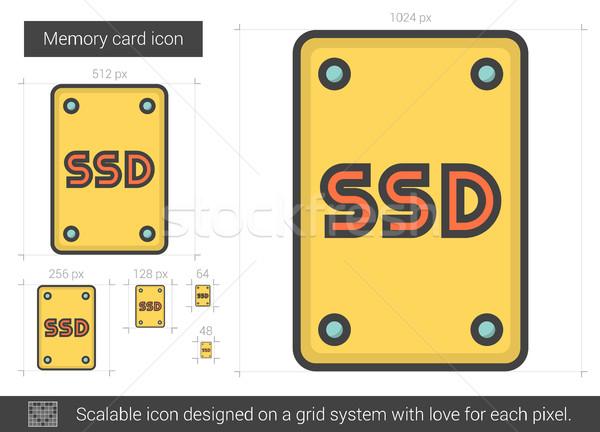 Bellek kart hat ikon vektör yalıtılmış Stok fotoğraf © RAStudio
