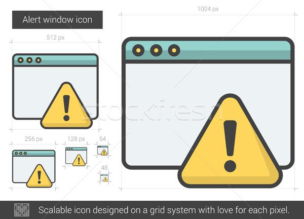 Uyarmak pencere hat ikon vektör yalıtılmış Stok fotoğraf © RAStudio