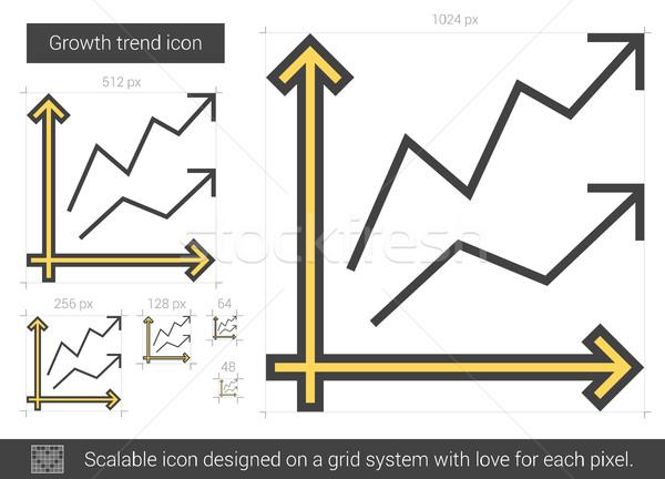 Groei trend lijn icon vector geïsoleerd Stockfoto © RAStudio