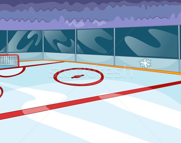 Cartoon background of ice hockey rink. Stock photo © RAStudio
