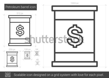 Kőolaj hordó vonal ikon vektor izolált Stock fotó © RAStudio