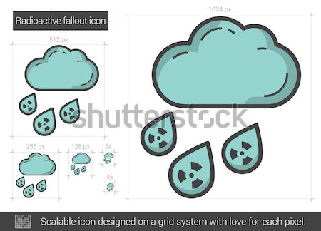 Radioactive fallout line icon. Stock photo © RAStudio